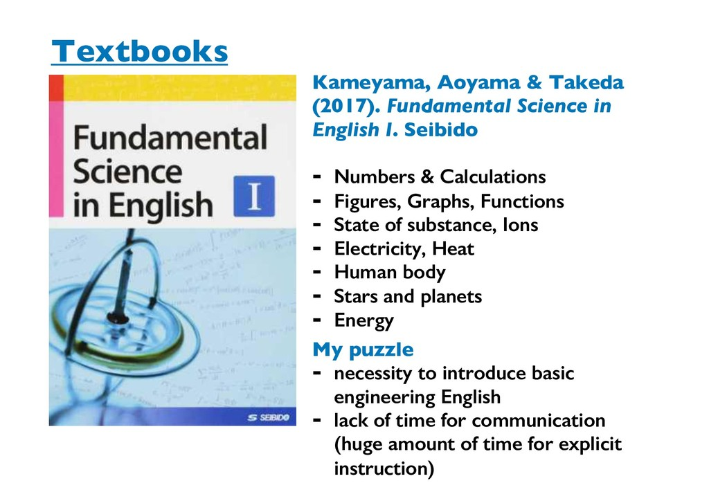 Textbooks My puzzle - necessity to introduce ba...
