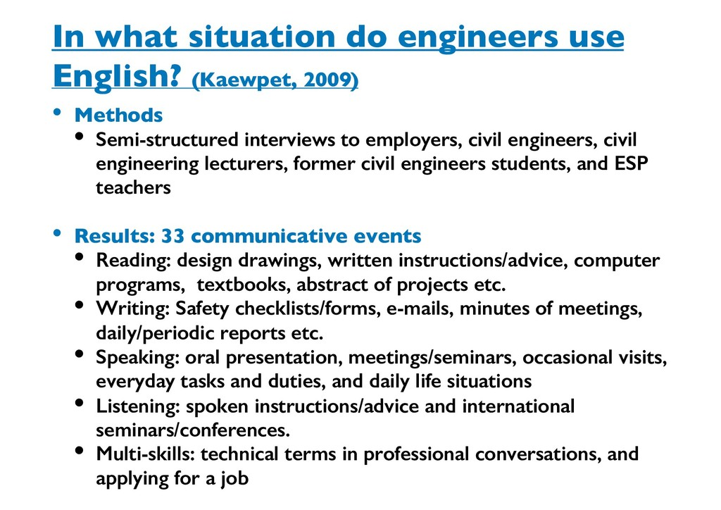 In what situation do engineers use English? (Ka...