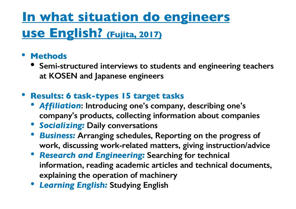 In what situation do engineers use English? (Fu...
