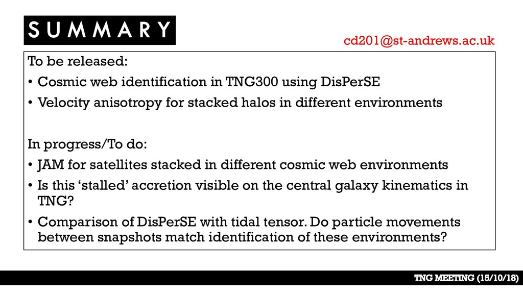 To be released: • Cosmic web identification in ...