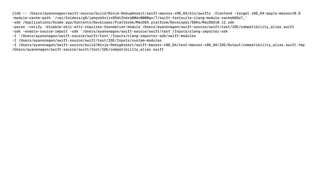 lldb -- /Users/ayanonagon/swift-source/build/Ni...