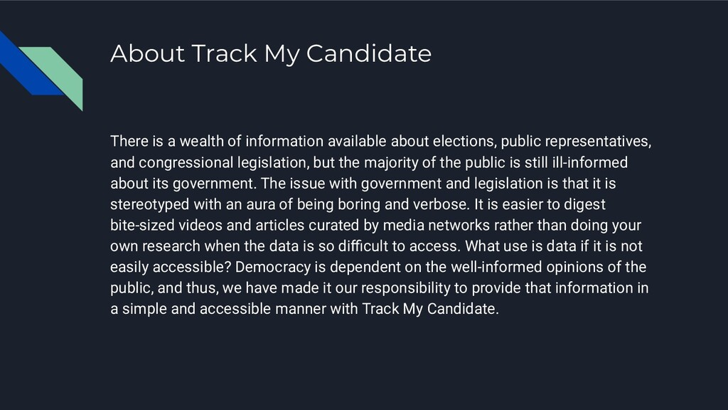 About Track My Candidate There is a wealth of i...