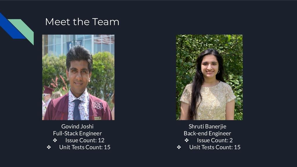 Meet the Team Govind Joshi Full-Stack Engineer ...