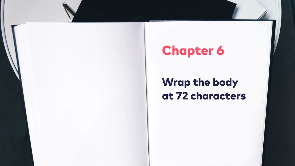 Chapter 6 Wrap the body at 72 characters