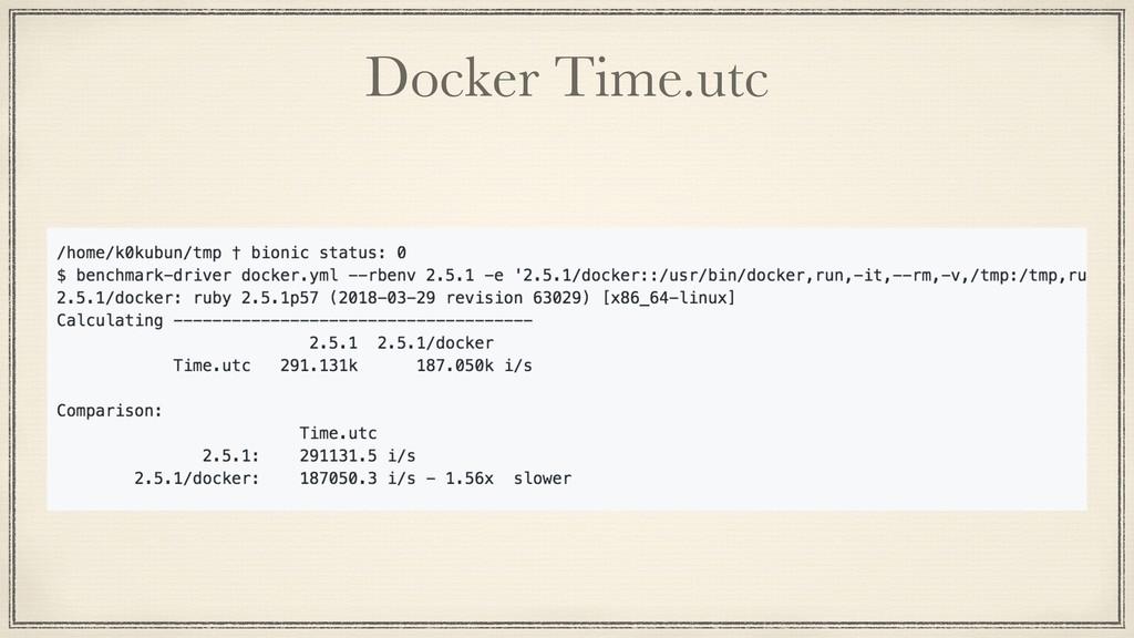 Docker Time.utc