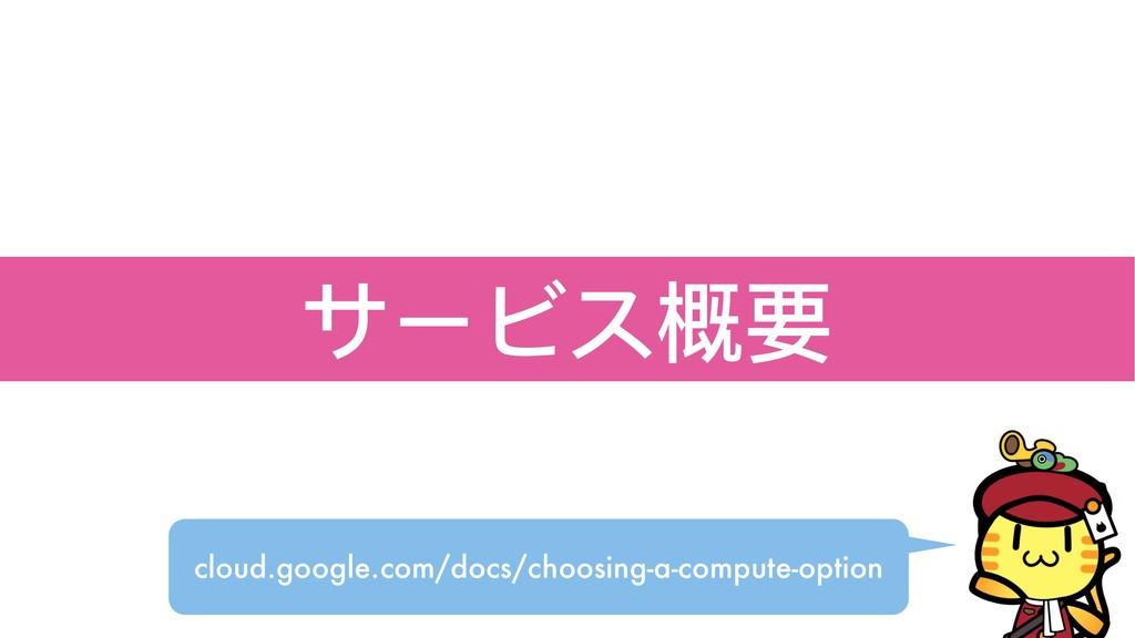 サービス概要 cloud.google.com/docs/choosing-a-compute...