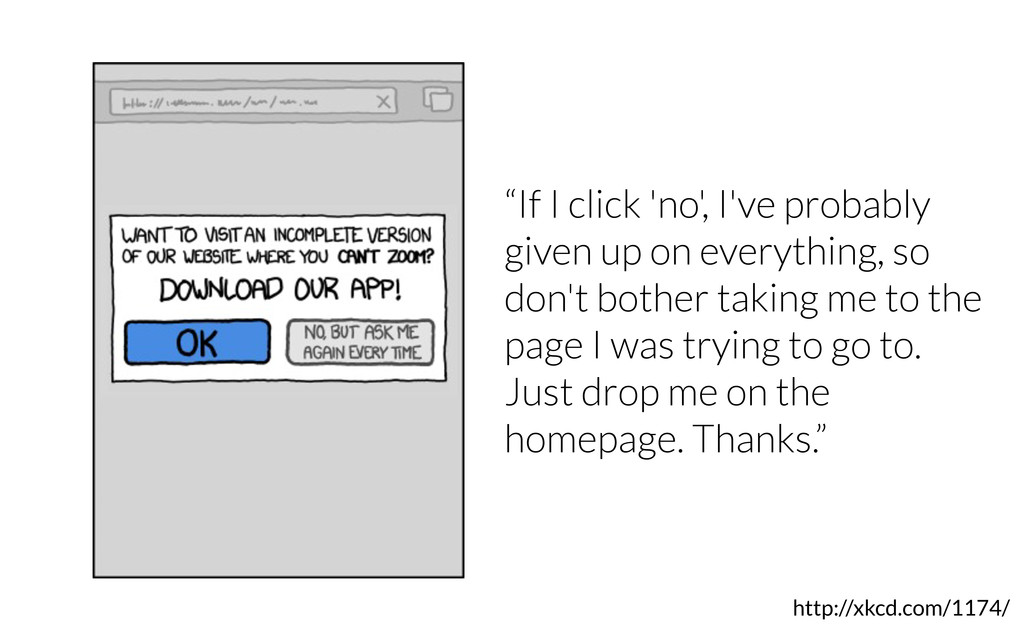 "http://xkcd.com/1174/ ""If I click 'no', I've pr..."