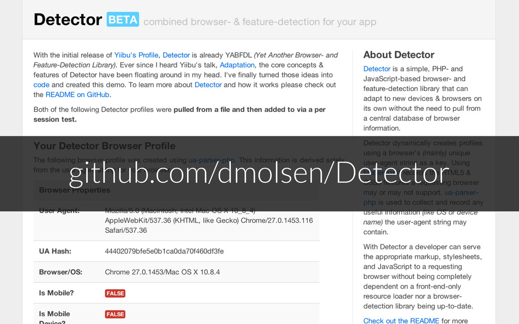github.com/dmolsen/Detector