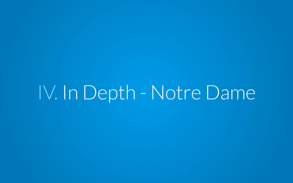 IV. In Depth - Notre Dame