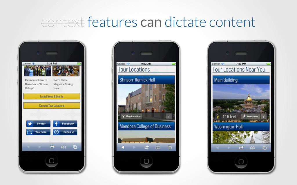 context features can dictate content