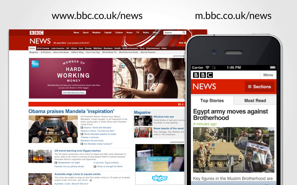 www.bbc.co.uk/news m.bbc.co.uk/news