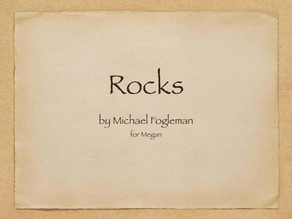Rocks by Michael Fogleman for Megan