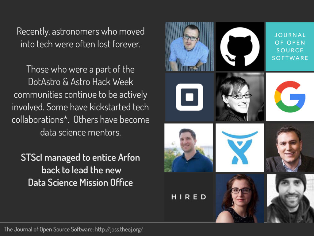 Recently, astronomers who moved into tech were ...