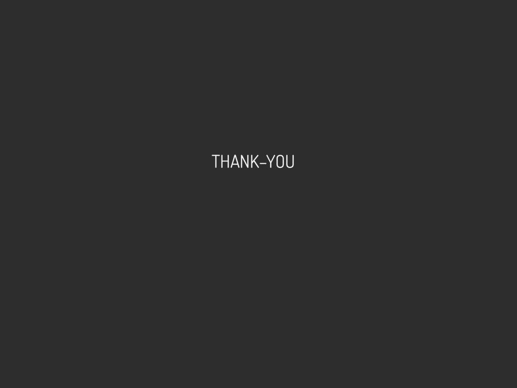 THANK–YOU