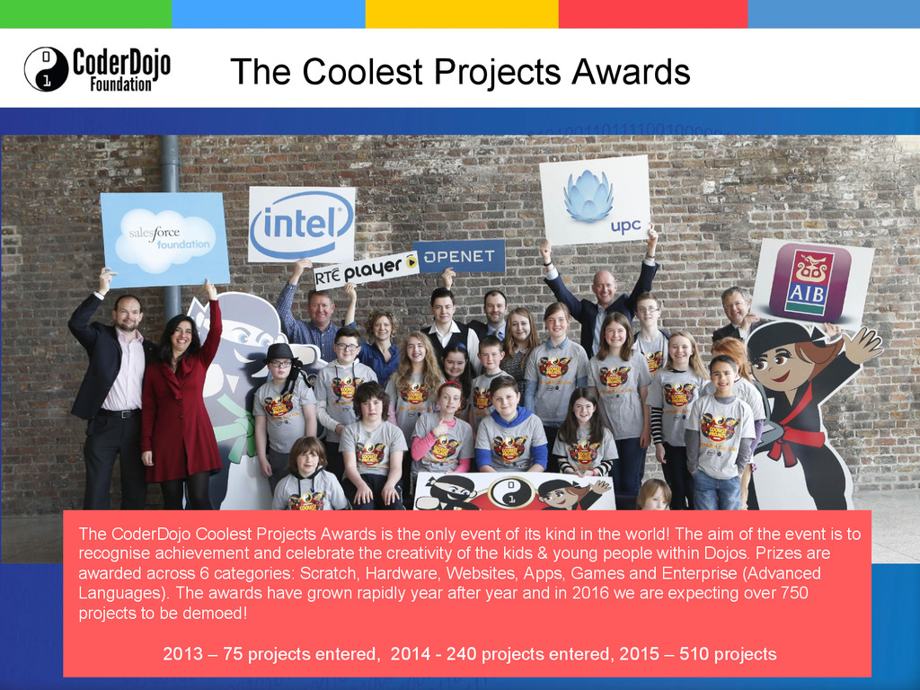 The Coolest Projects Awards The CoderDojo Coole...