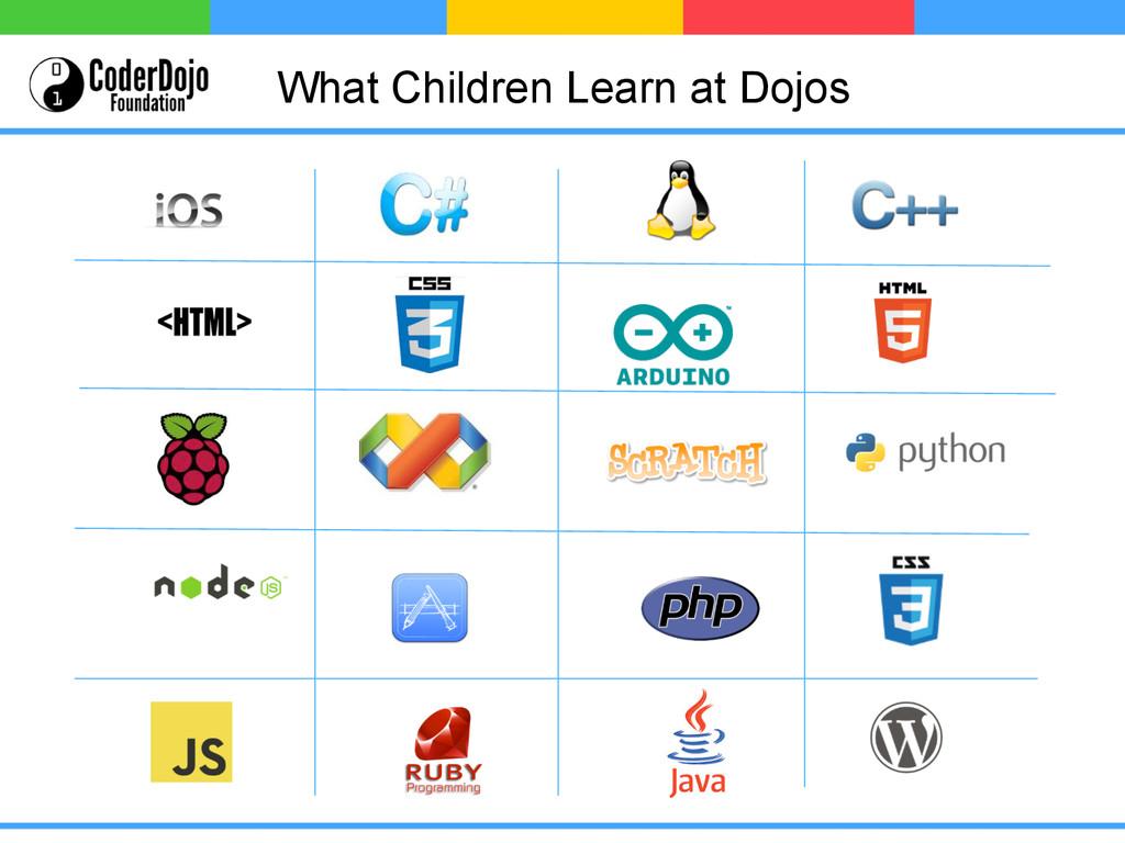 What Children Learn at Dojos