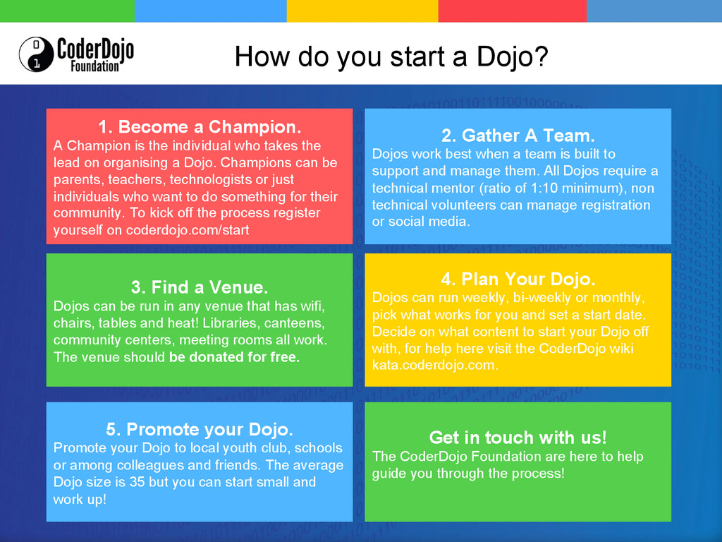 Get in touch with us! The CoderDojo Foundation ...