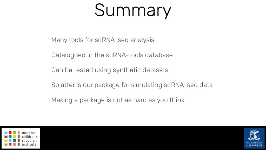 Many tools for scRNA-seq analysis Catalogued in...