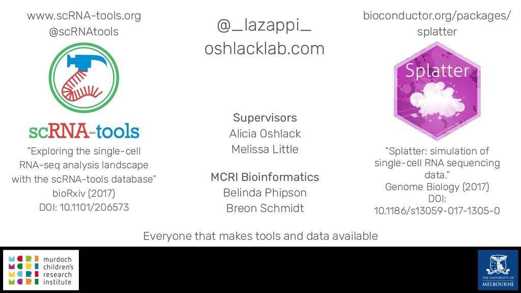 @_lazappi_ oshlacklab.com Supervisors Alicia Os...