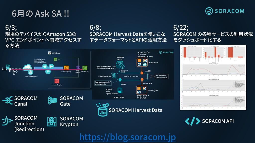 6月の Ask SA !! 6/3; 現場のデバイスからAmazon S3の VPC エンドポ...