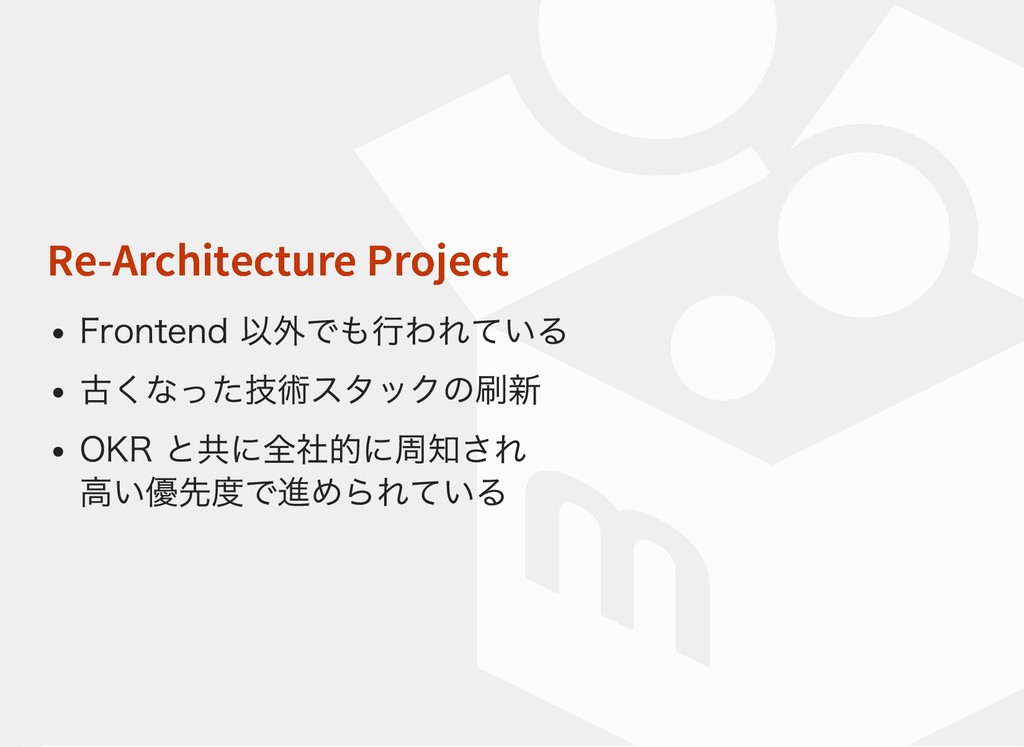 Re-Architecture Project Re-Architecture Project...