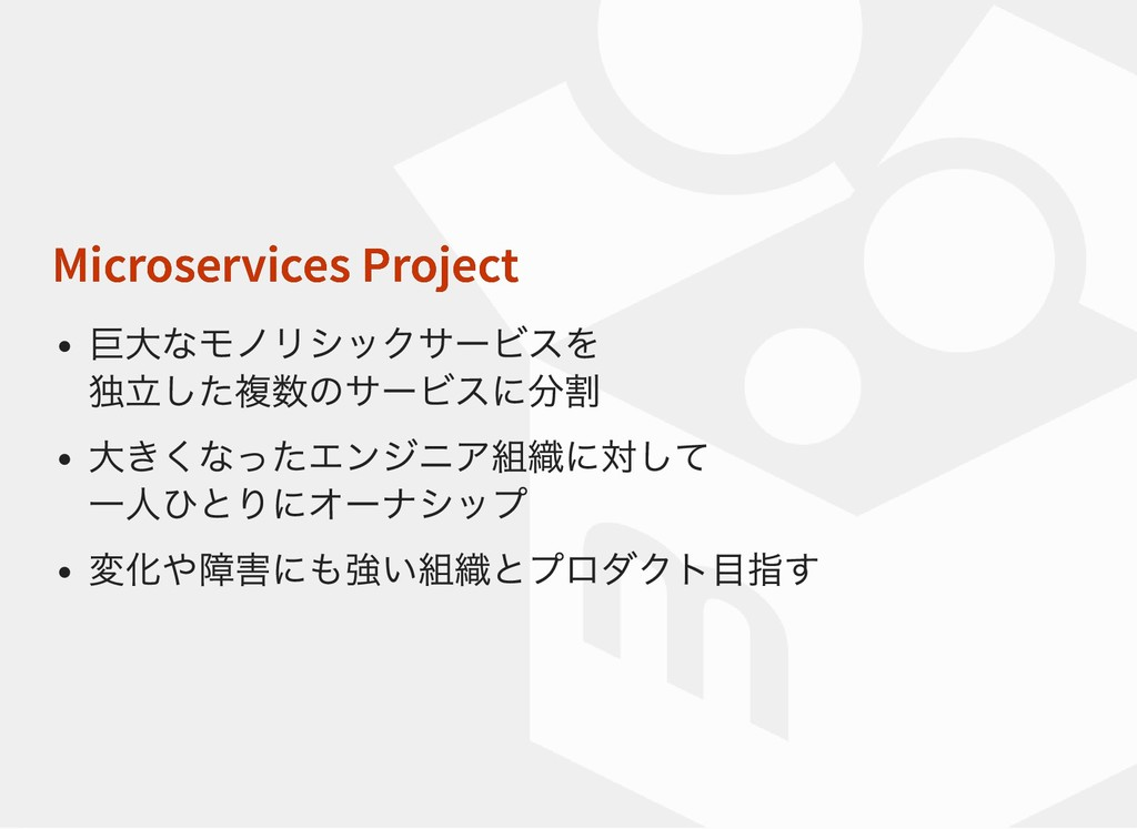 Microservices Project Microservices Project 巨大な...