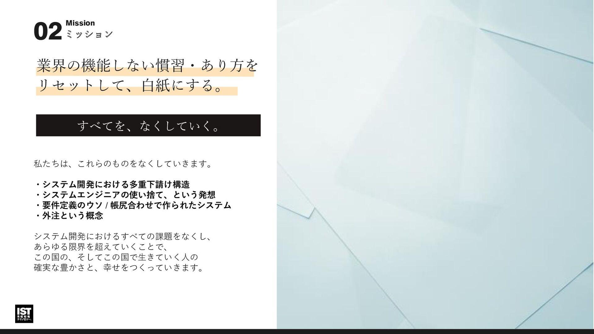 ビジョン 未来 02 ビジョン / 2032年100社1500億円 情報戦略テクノロジーを親会...