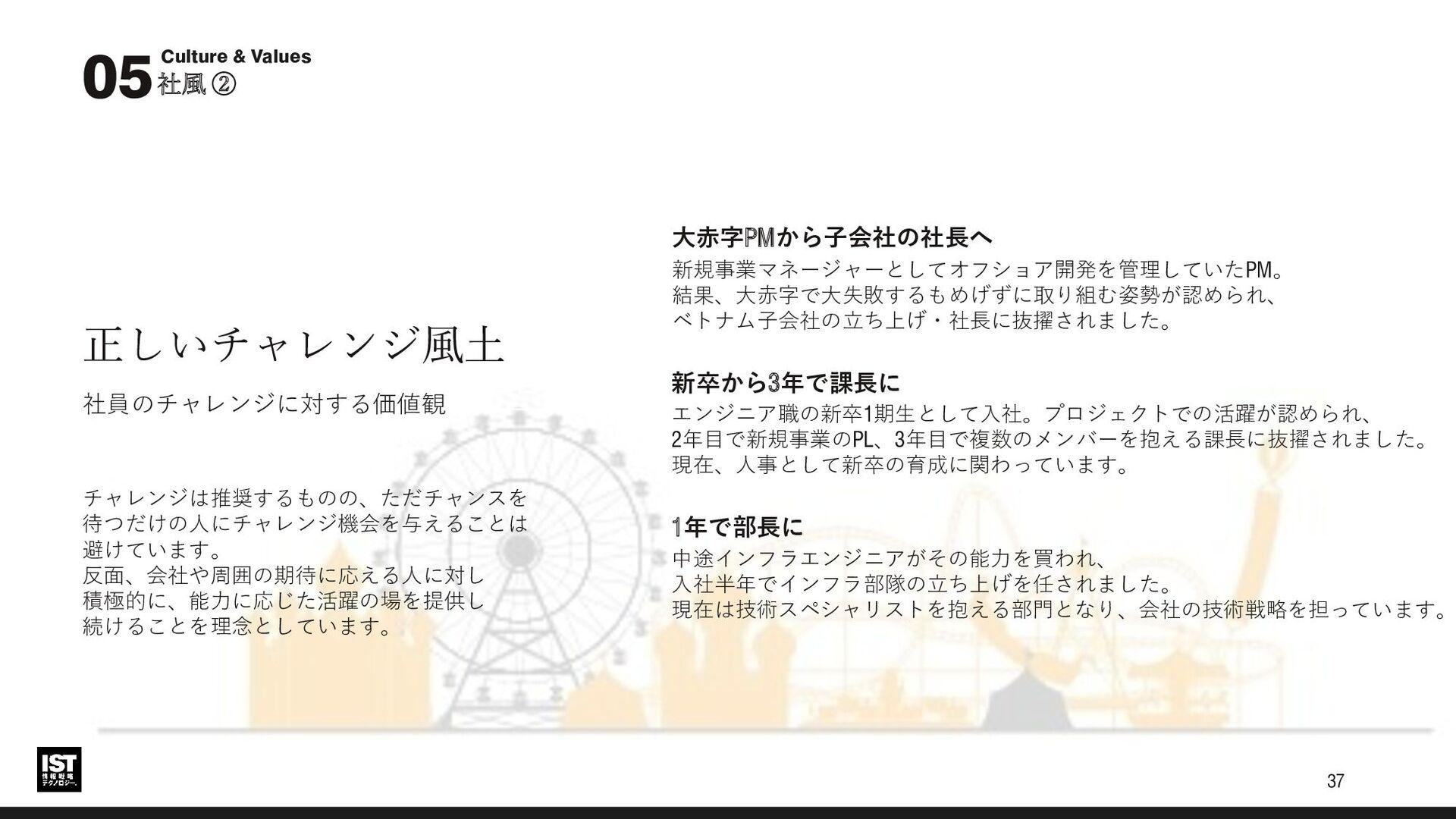 オフィス風景 社風・価値観 05 このオフィスに使われているテーブルは 東日本大震災の廃木を使...