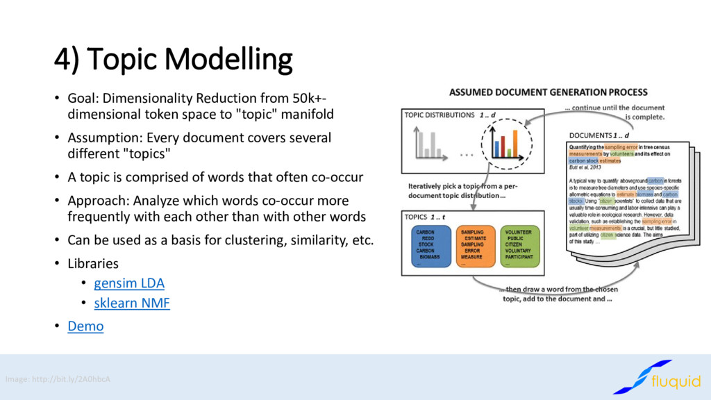 4) Topic Modelling • Goal: Dimensionality Reduc...