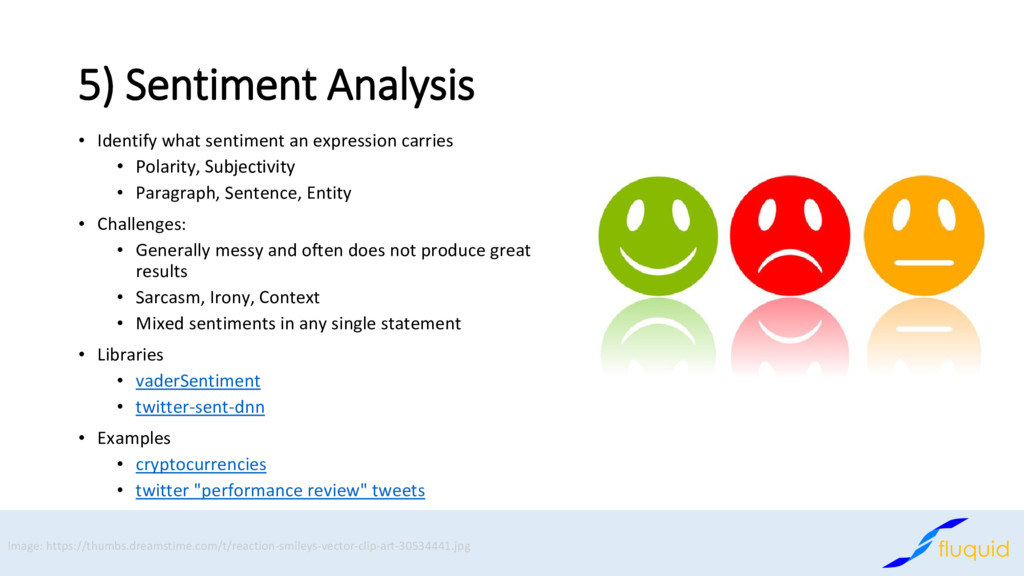 5) Sentiment Analysis Identify what sentiment a...