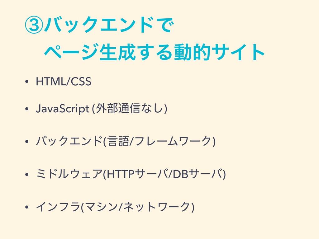 ᶅόοΫΤϯυͰ ɹϖʔδੜ͢ΔಈతαΠτ • HTML/CSS • JavaScript...