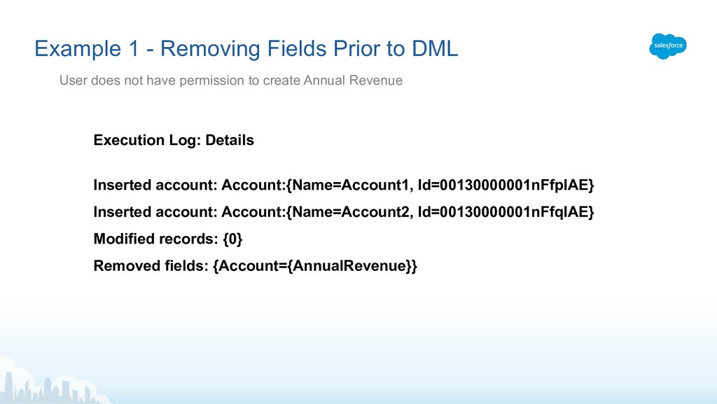 Execution Log: Details Inserted account: Accoun...