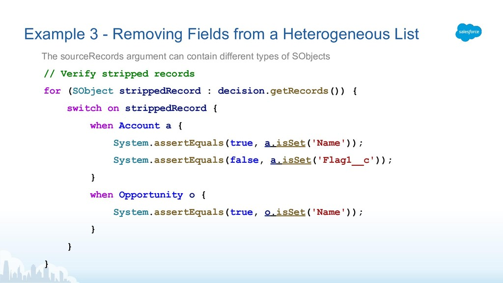 Example 3 - Removing Fields from a Heterogeneou...
