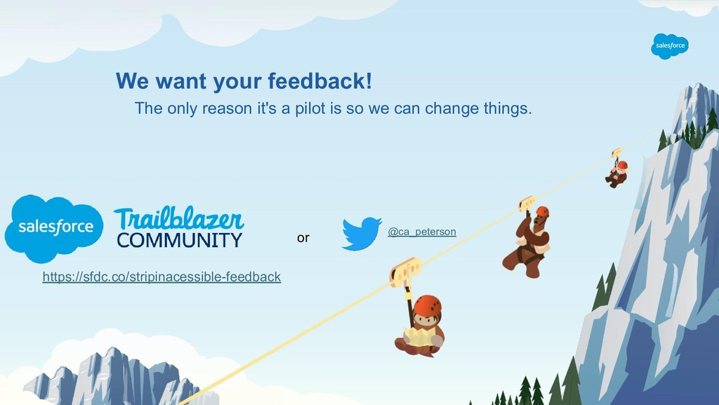 We want your feedback! The only reason it's a p...