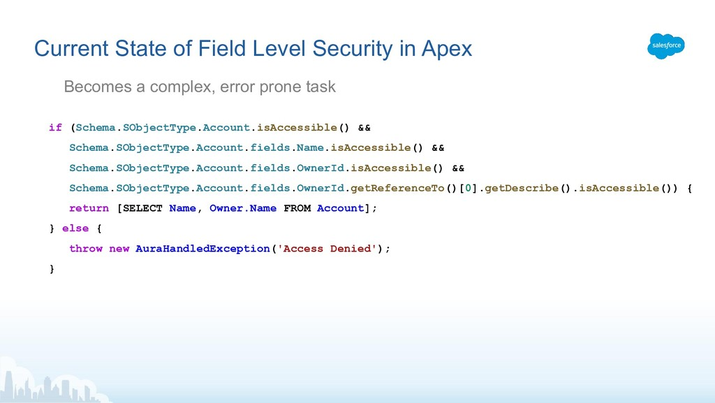 Current State of Field Level Security in Apex B...