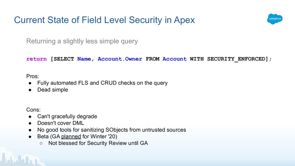 Current State of Field Level Security in Apex R...