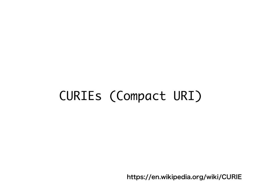 CURIEs (Compact URI) IUUQTFOXJLJQFEJBPSHX...