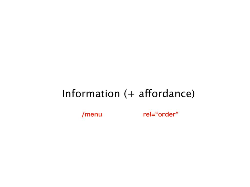 Information (+ affordance) NFOV SFMlPSEFSz