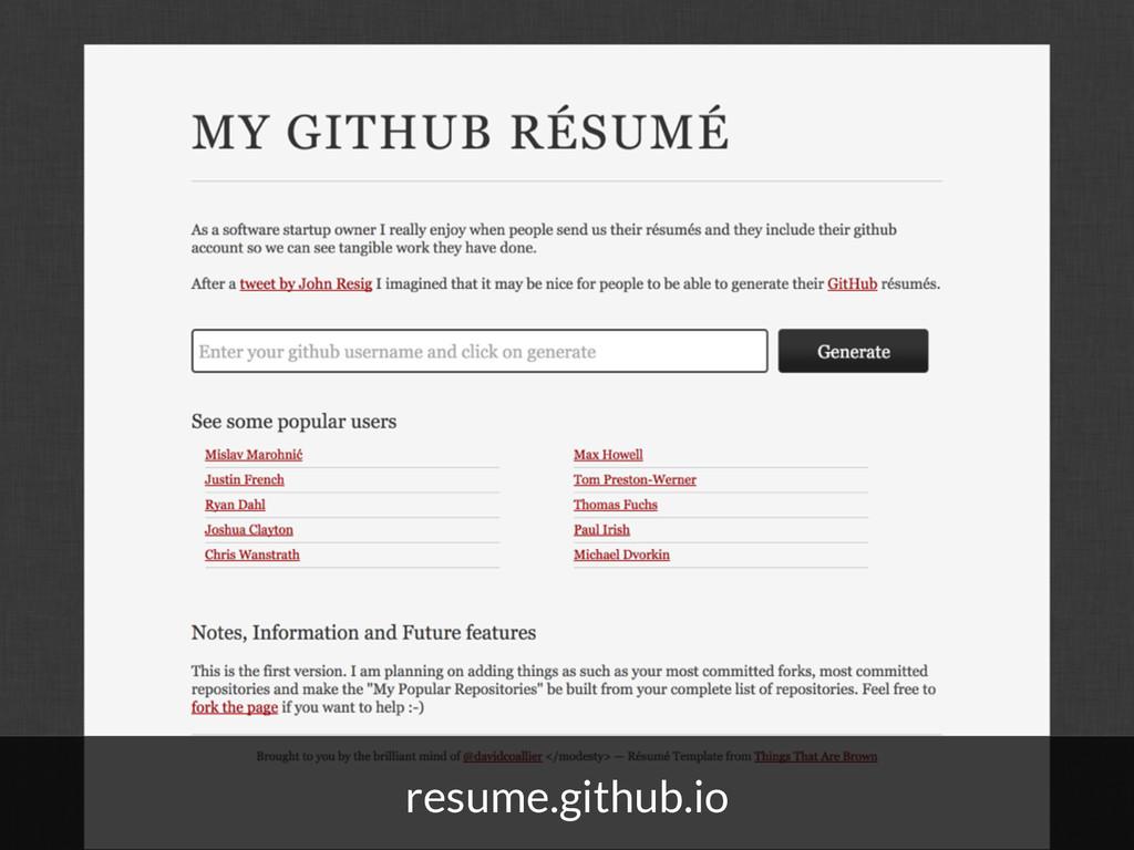 resume.github.io