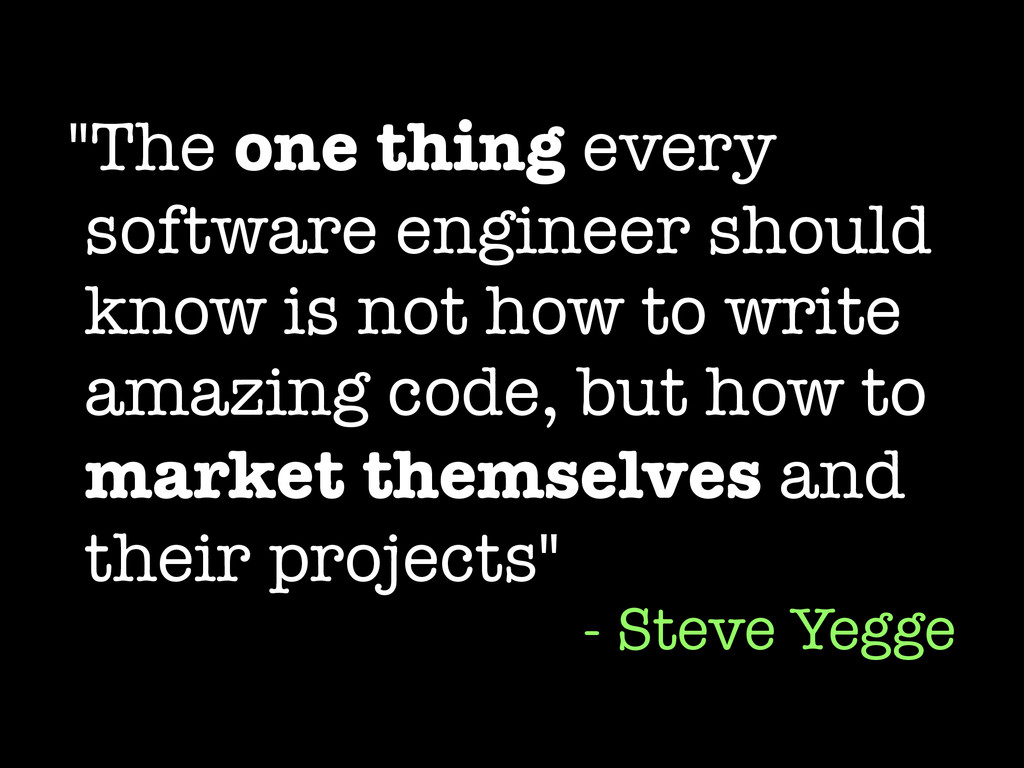 """The one thing every software engineer should k..."