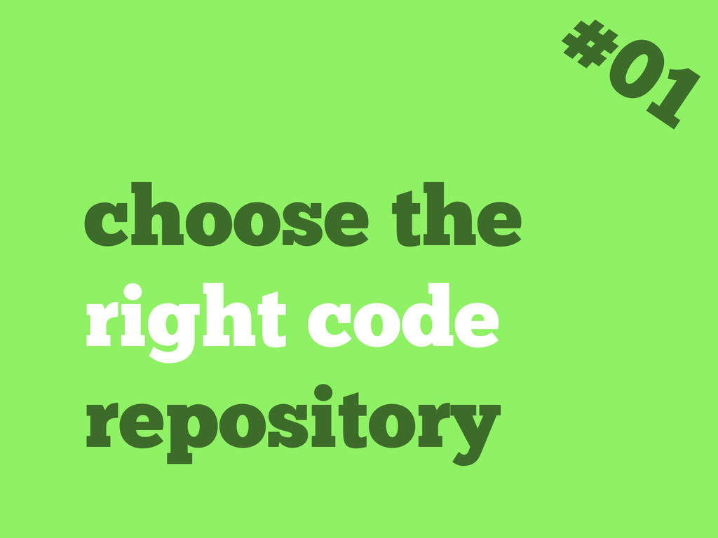 choose the right code repository #01