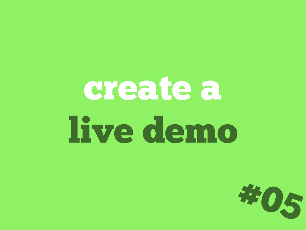 create a live demo #05