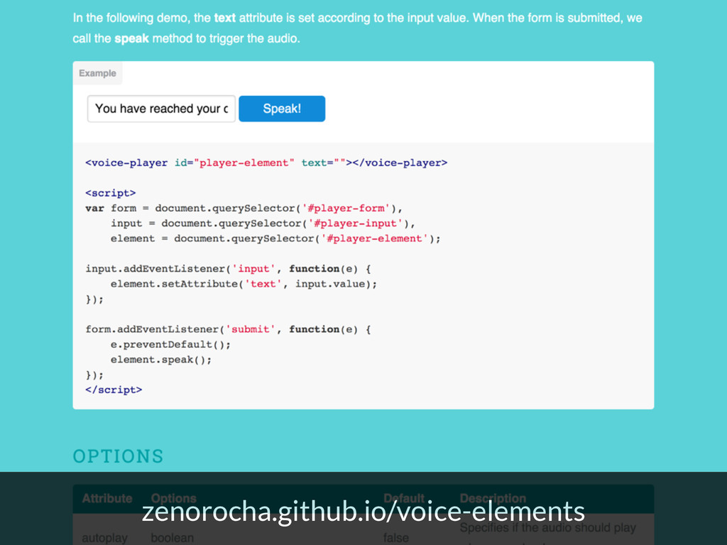 zenorocha.github.io/voice-elements