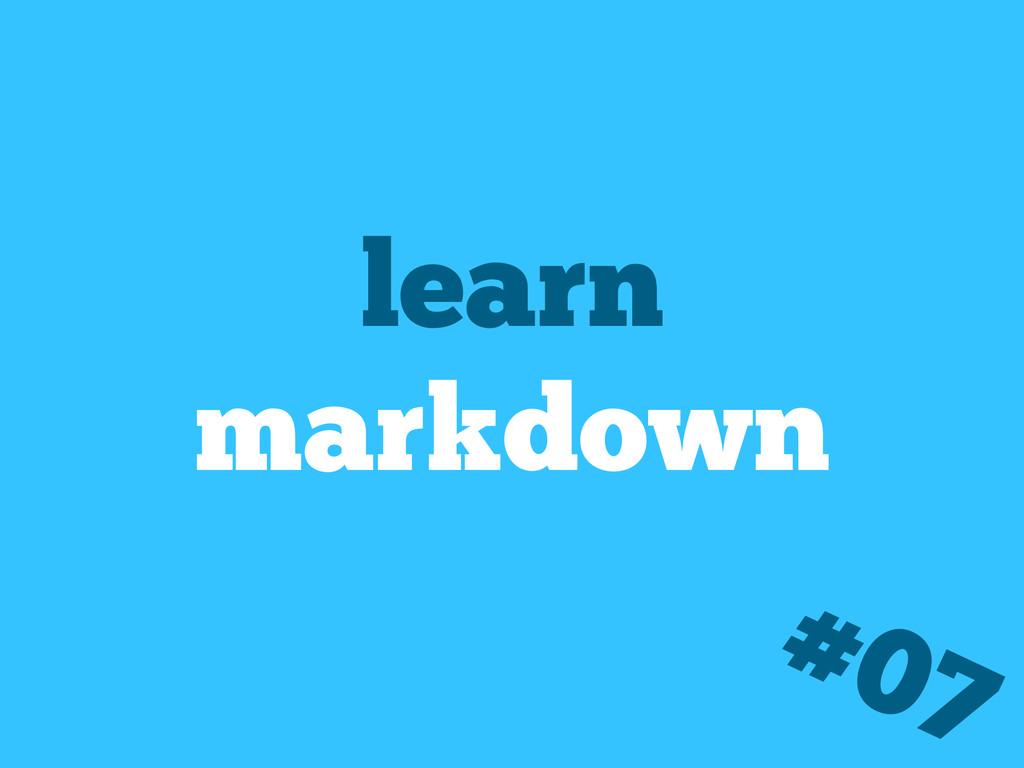 learn markdown #07