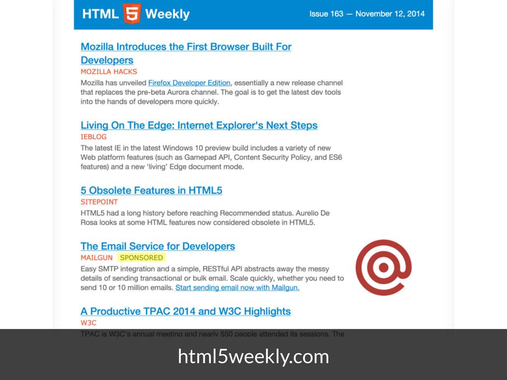 html5weekly.com