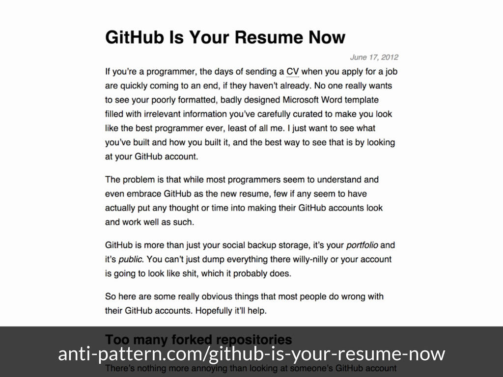 anti-pattern.com/github-is-your-resume-now