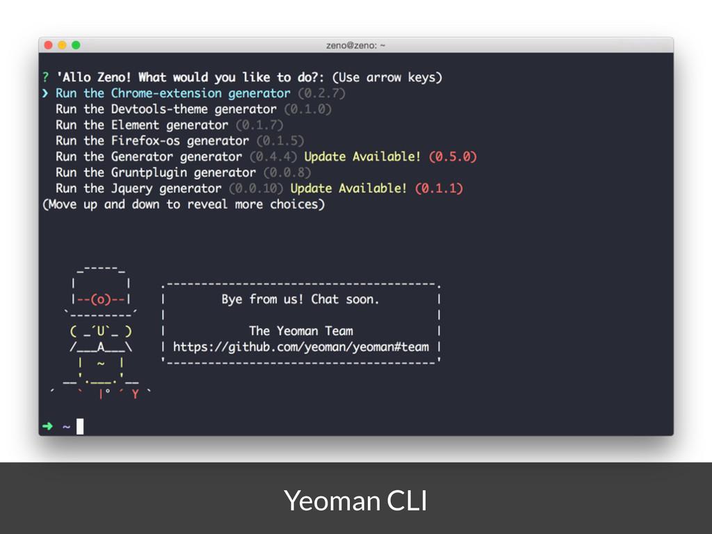 Yeoman CLI