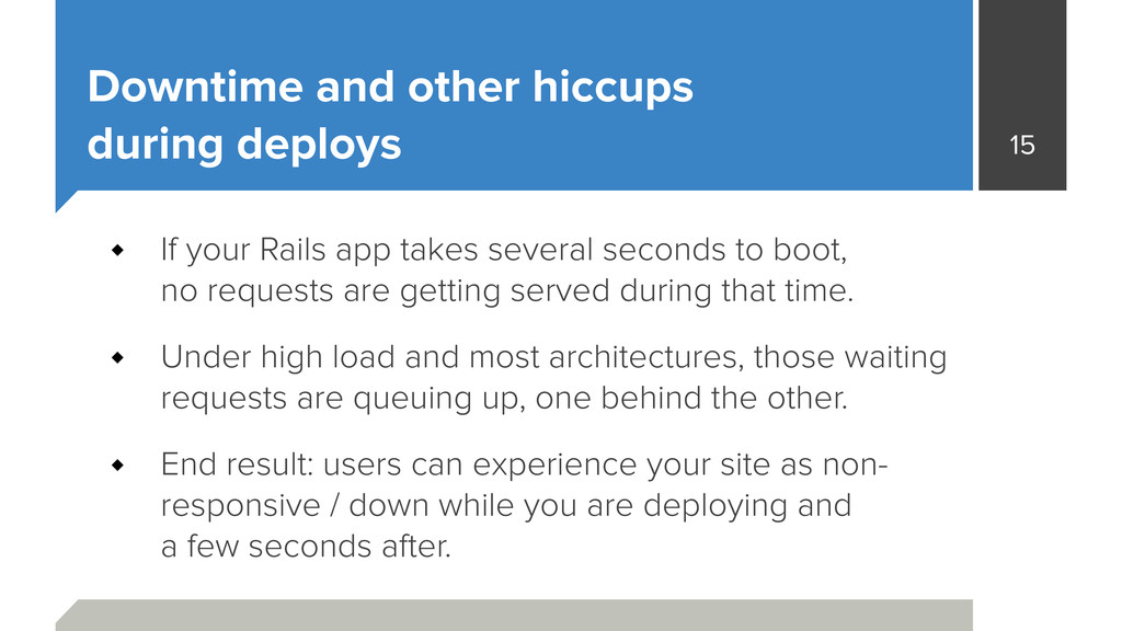 Downtime and other hiccups during deploys If y...