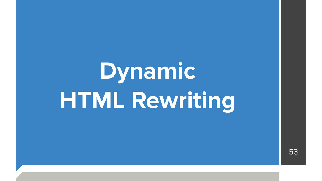 53 Dynamic HTML Rewriting