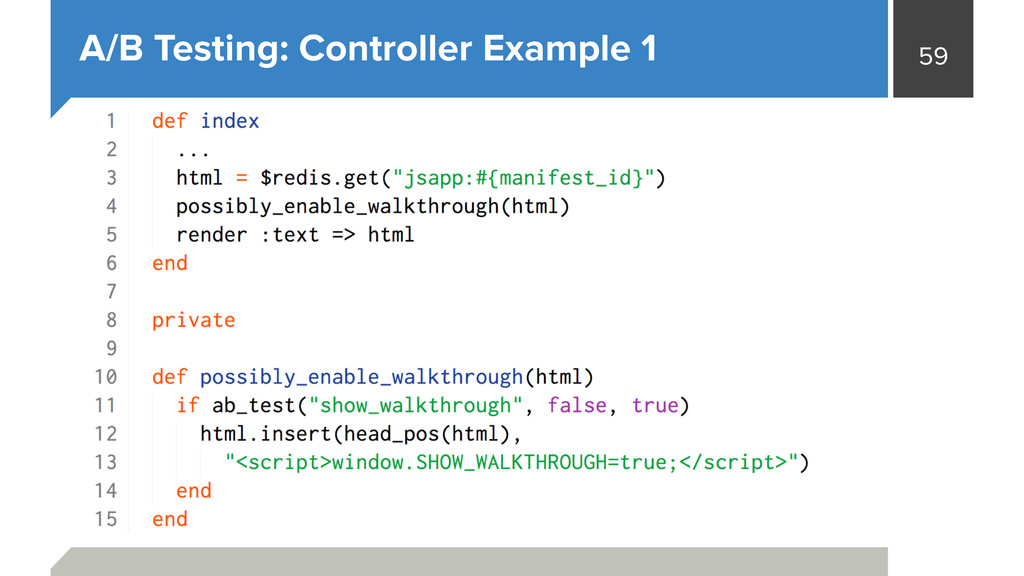 59 A/B Testing: Controller Example 1